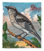 Mocking Bird Fleece Blanket