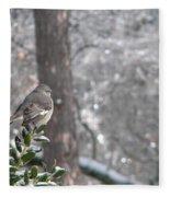 Mockingbird Back Fleece Blanket