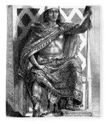 Moctezuma II, Ninth Tlatoani, Aztec Fleece Blanket