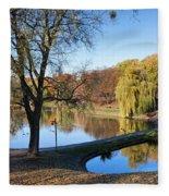 Moczydlo Park In Warsaw Fleece Blanket