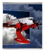 Model Planes Dc3 01 Fleece Blanket