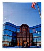 Modern Architecture Fleece Blanket