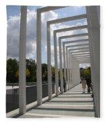 Modern Archway - Schwerin Garden -  Germany Fleece Blanket