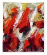 Modern Art Thirty-two Fleece Blanket