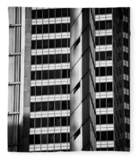 Modern Buildings Abstract Architecture Fleece Blanket