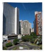 Modern Buildings In Central Rio De Fleece Blanket