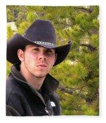 Modern Day Cowboy Fleece Blanket
