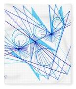 Modern Drawing Eighty-eight Fleece Blanket
