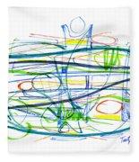 Modern Drawing Eighty-seven Fleece Blanket