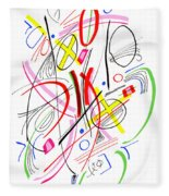 Modern Drawing Fifty-three Fleece Blanket
