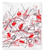 Modern Drawing Ninety-five Fleece Blanket