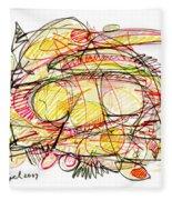 Modern Drawing Seventy-eight Fleece Blanket