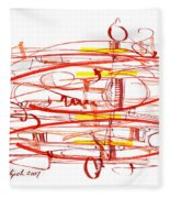 Modern Drawing Seventy Fleece Blanket