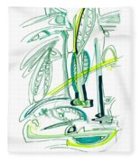 Modern Drawing Sixty-four Fleece Blanket