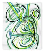Modern Drawing Sixty Fleece Blanket