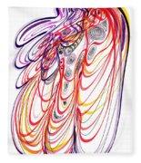 Modern Drawing Sixty-three Fleece Blanket