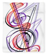Modern Drawing Sixty-two Fleece Blanket