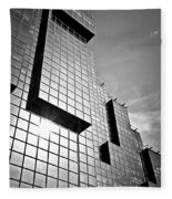 Modern Glass Building Fleece Blanket