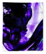 Modern Purple  Fleece Blanket