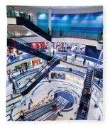 Modern Shopping Mall Interior Fleece Blanket