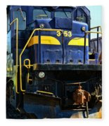 Modern Train Engine Fleece Blanket