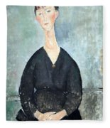 Modigliani's Cafe Singer Fleece Blanket