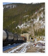 Moffat Tunnel East Portal At The Continental Divide In Colorado Fleece Blanket