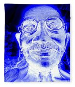 Mohandas Gandhi Fleece Blanket