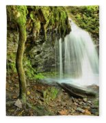 Mohawk Falls At Ricketts Glen Fleece Blanket