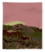 Mojave Desert In Mauve Fleece Blanket