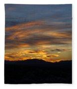 Mojave Desert Sunrise Fleece Blanket