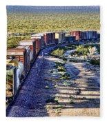 Mojave Desert Train By Diana Sainz Fleece Blanket