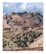 Mojave Desert View - Valley Of Fire Fleece Blanket