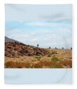 Mojave Desert Landscape Fleece Blanket