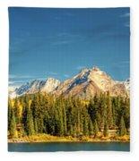 Molas Lake And The Needle Range Pan 2 Fleece Blanket
