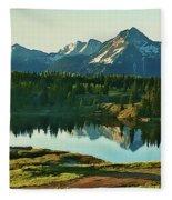 Molas Lake Sunrise Fleece Blanket