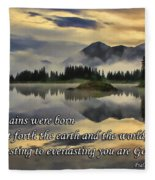 Molas Lake Sunrise With Scripture Fleece Blanket