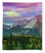 Molas Pass Sunset Panorama Fleece Blanket
