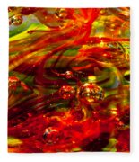 Molten Bubbles Fleece Blanket