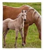 Mom And Foal Fleece Blanket