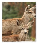 Mom And Junior Fleece Blanket