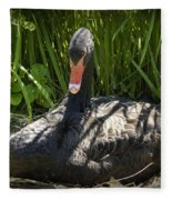Momma Swan Fleece Blanket
