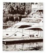 Momousse Yacht In Montreal Fleece Blanket