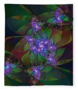 Mom's African Violets Fleece Blanket