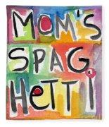 Mom's Spaghetti Fleece Blanket