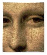 Mona Lisa    Detail Fleece Blanket