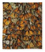 Monarch Butterflies Wintering Fleece Blanket