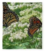 Monarch Butterfly 57 Fleece Blanket