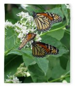 Monarch Butterfly 66 Fleece Blanket