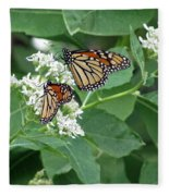 Monarch Butterfly 67 Fleece Blanket